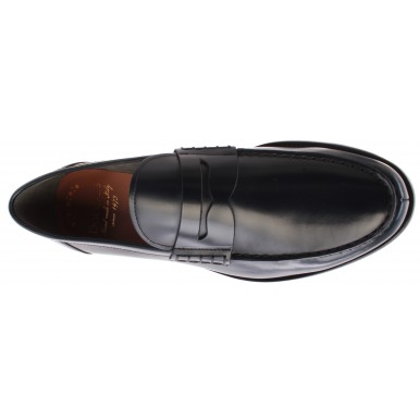 Men's Loafers DOUCAL'S Horse Goose Leather Dark Blue