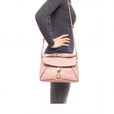 Women's Hand Shoulder Bag LIU JO Milano AA1077 E0040 Cameo Rose Synthetic Pink