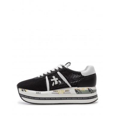 Zapatos Sneakers Mujeres PREMIATA Beth 5223 Canvas Noir