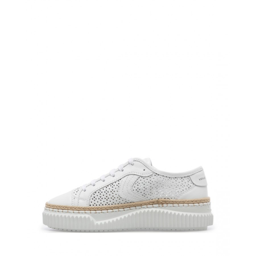 Sneakers Mujeres VOILE BLANCHE Maiorca 0N01 White Cuero Blanco