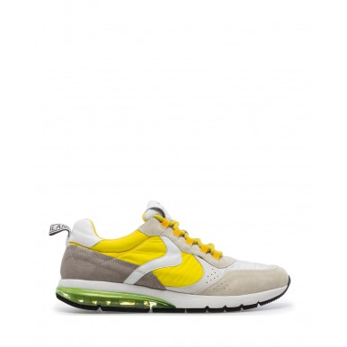 Sneakers Hombres VOILE BLANCHE New Argo 1B30 Ice Yellow Suede Tejido Amarillo
