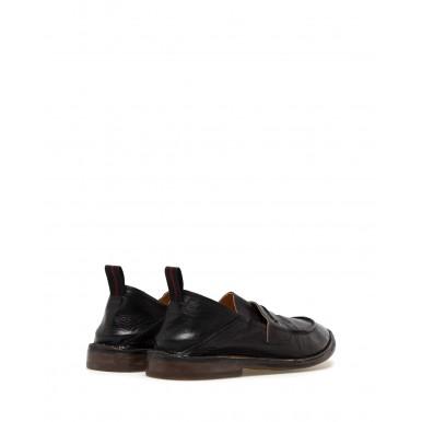 Zapatos Mocasines Hombres MOMA 2ES044 Sombrero Nero Cuero Negro
