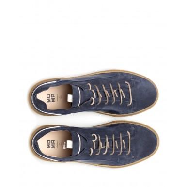 Sneakers Hombres MOMA 4AS107 Tony Box Blu Gamuza Cuero Azul