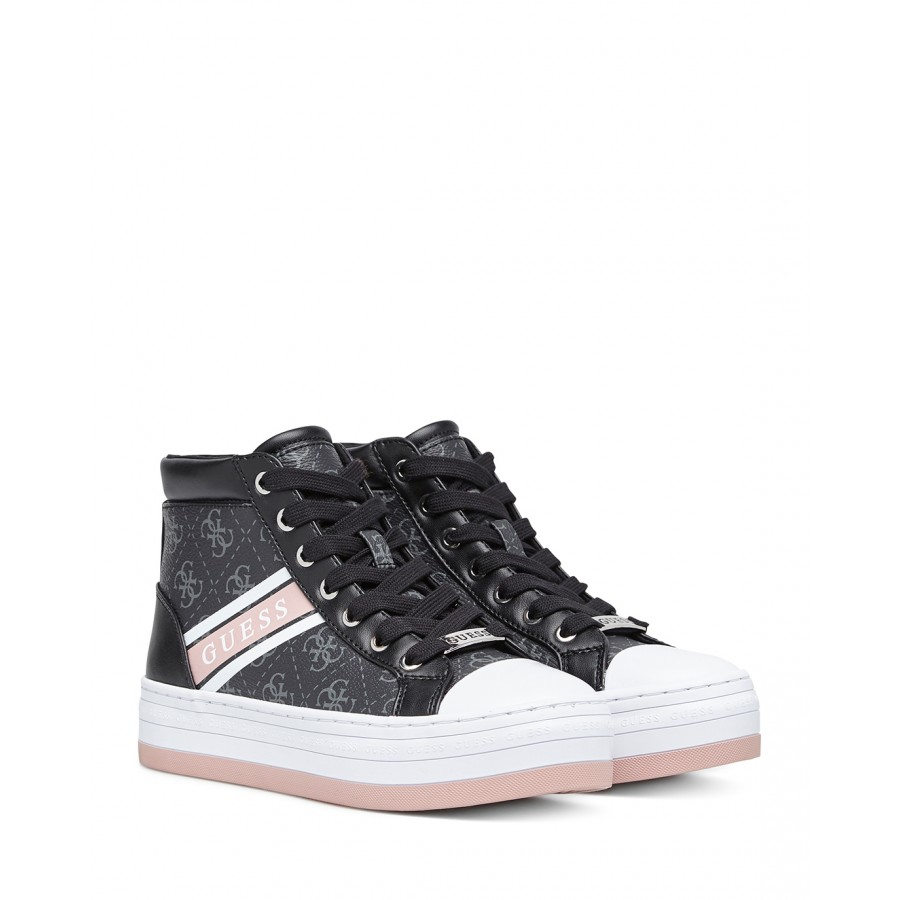 Women's Sneakers Shoes GUESS FL6BRRELE12 Coal Synthetic Leather Black