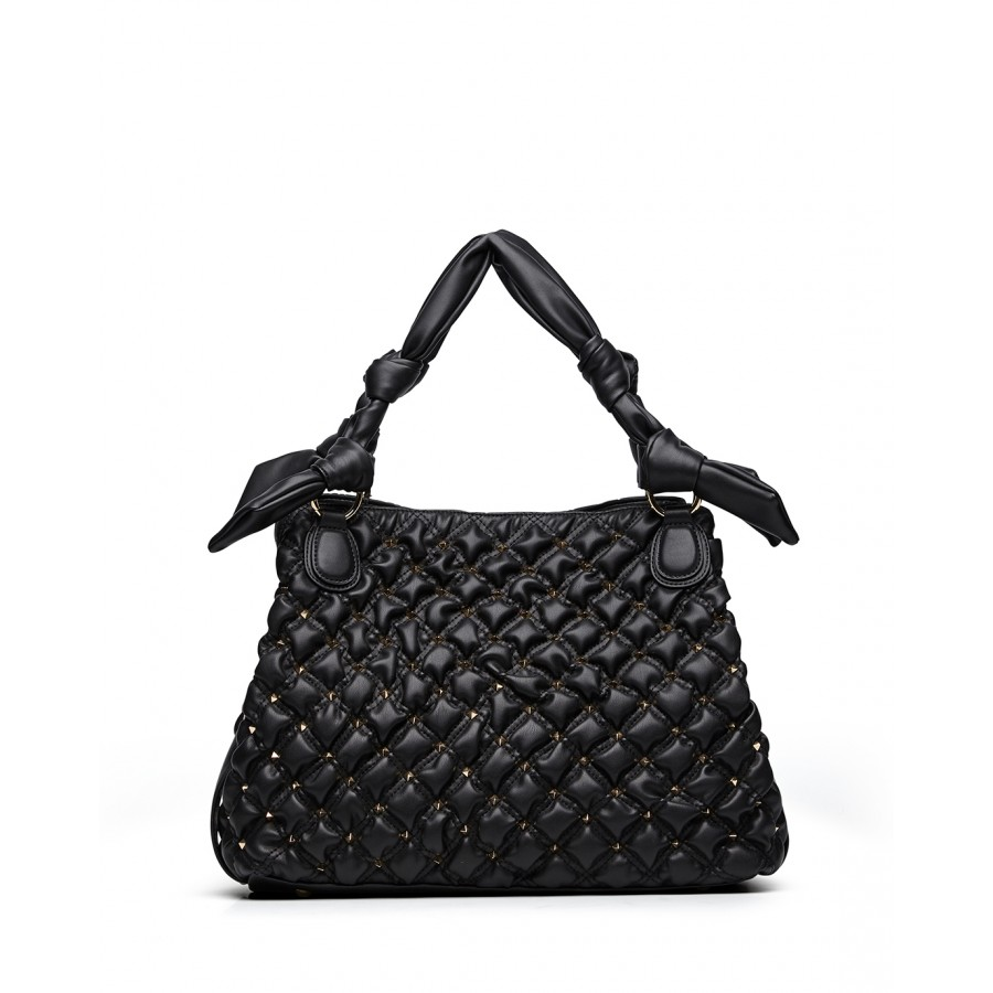 Woman's Shoulder Bag LA CARRIE MB501 Tinette Synthetic Leather Black
