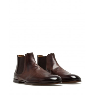 Men's Ankle Boots Shoes DOUCAL'S TM00 Chetta TMoro Leather Brown