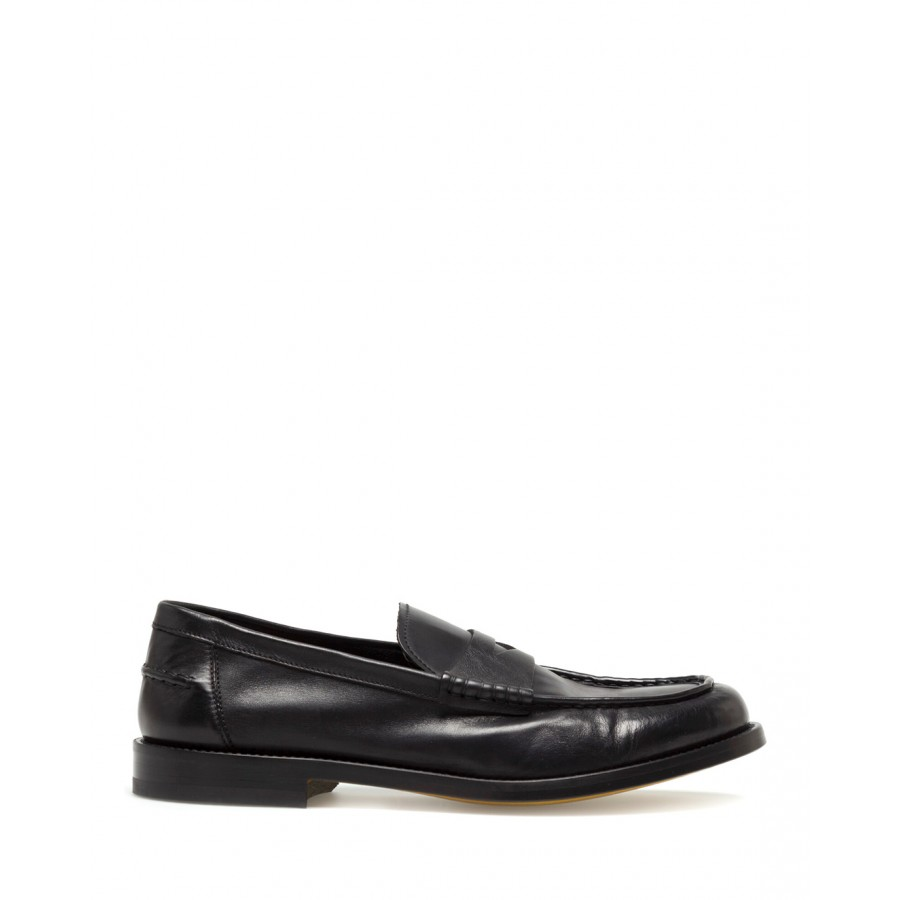Men's Loafers Shoes DOUCAL'S NN00 Harley Nero Leather Black