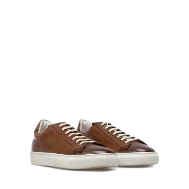 Men's Sneakers Shoes DOUCAL'S UM07 Radica Brandy Leather Brown