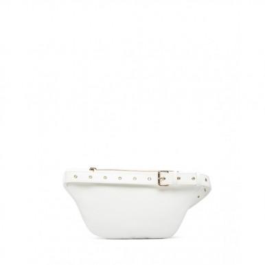 Women's Shoulder Bag Belt Pouch LOVE MOSCHINO JC4228 Pu Bianco Synthetic White