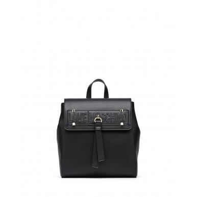 Women's Backpack LOVE MOSCHINO JC4273 Pu Nero Synthetic Black