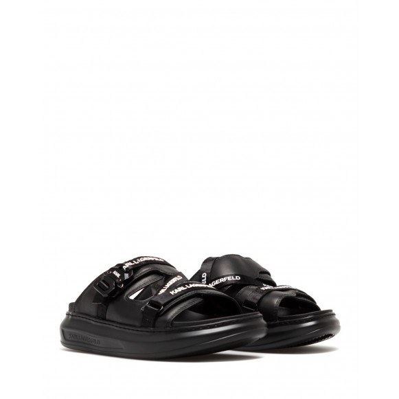 Women\'s Sandals Shoes KARL LAGERFELD KL6251300X Black Mono Leather