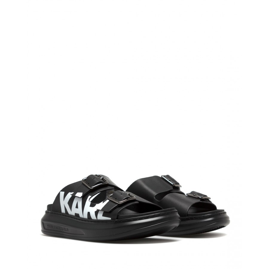Women's Sandals Shoes KARL LAGERFELD KL62505000 Black Leather
