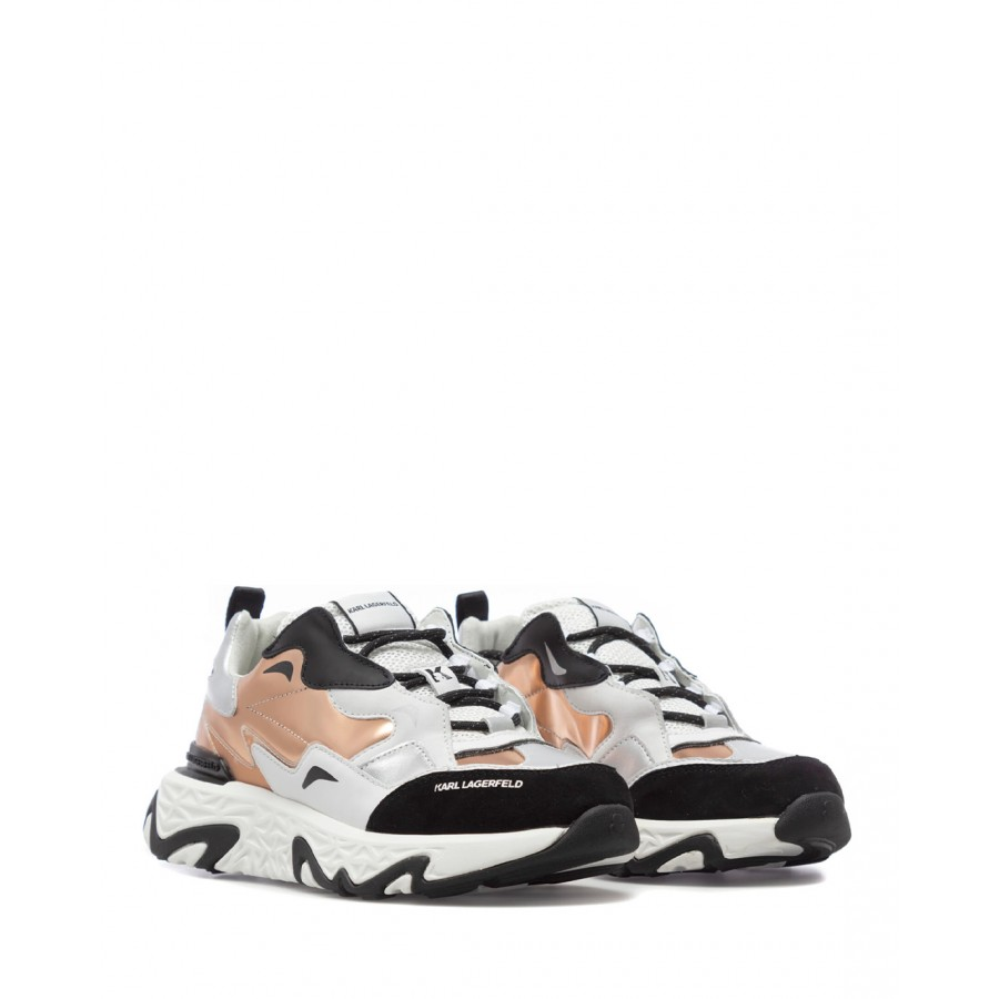 Women's Sneakers Shoes KARL LAGERFELD KL6242141P White Pink Leather