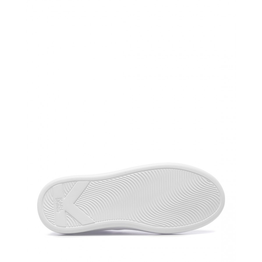 Women's Sneakers Shoes KARL LAGERFELD KL6258901 White Iride Leather