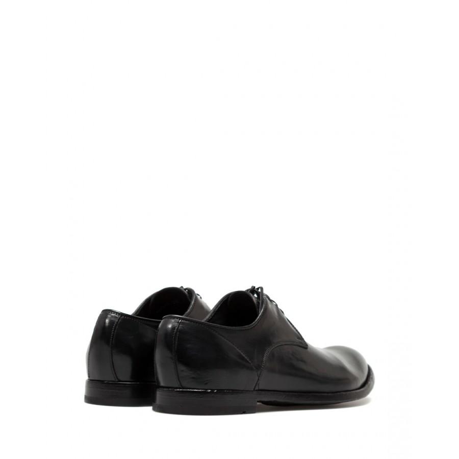 Men's Classic Shoes OFFICINE CREATIVE Anatomia01 Canyon Nero Leather Black