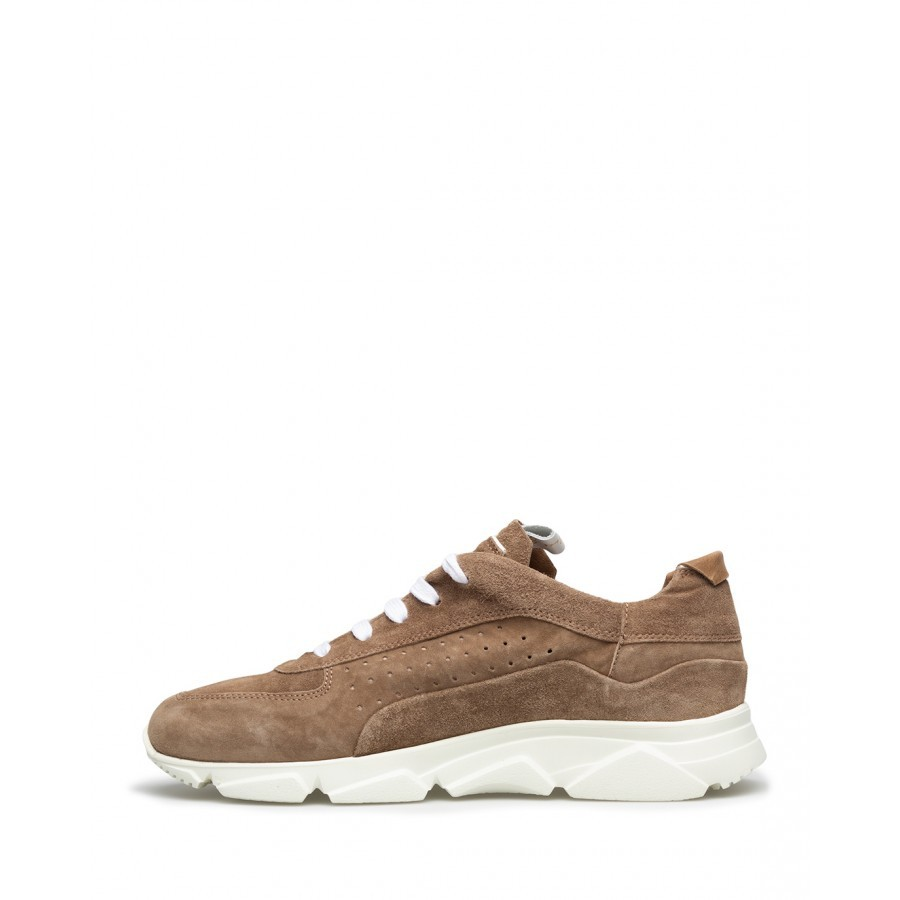 Women's Sneakers MOMA 3AS010-OL Oliver Taupe Suede Brown