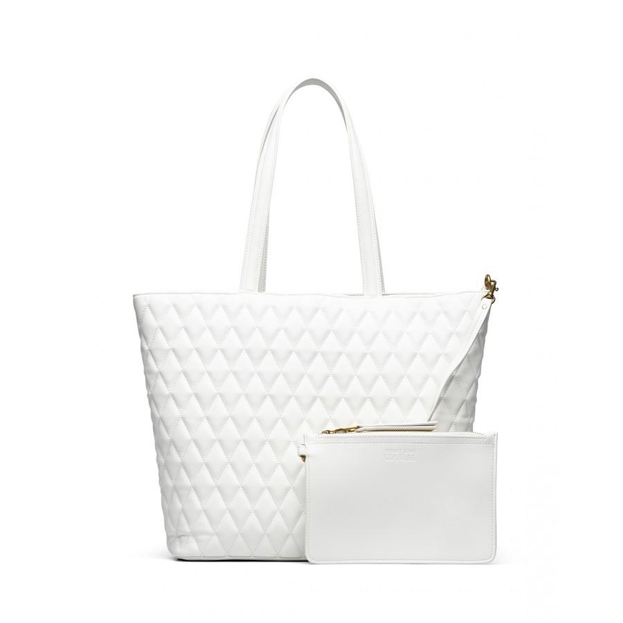 Women's Hand Shoulder Bag VERSACE JEANS COUTURE E1VWABQ5 71881 White Synthetic