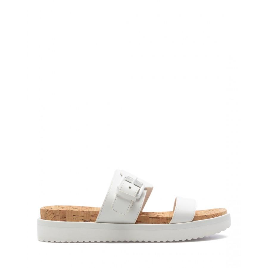 Women's Sandals MICHAEL KORS Bo Slide 40S1BOFA1L OpWh Leather White