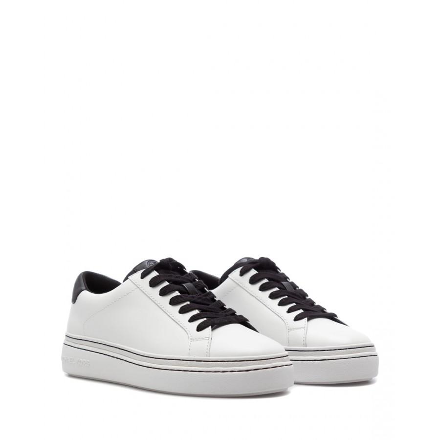 Women's Sneakers MICHAEL KORS Chapman 43S1CHFS1L WhtBlk Leather White