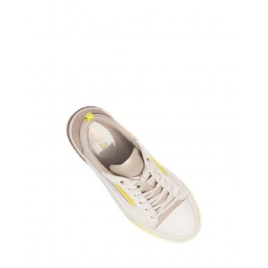 Women's Sneakers MICHAEL KORS Oscar 43S1OSFS4D LtSandMlti Leather Canvas Beige