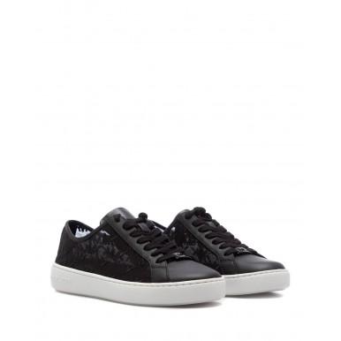 Women's Sneakers MICHAEL KORS Olivia 43S1OLFS2D Black Leather Fabric