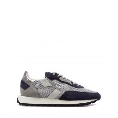 Men's Sneakers GHOUD ROLM ML19 Blue Steel Suede Canvas Blue Grey