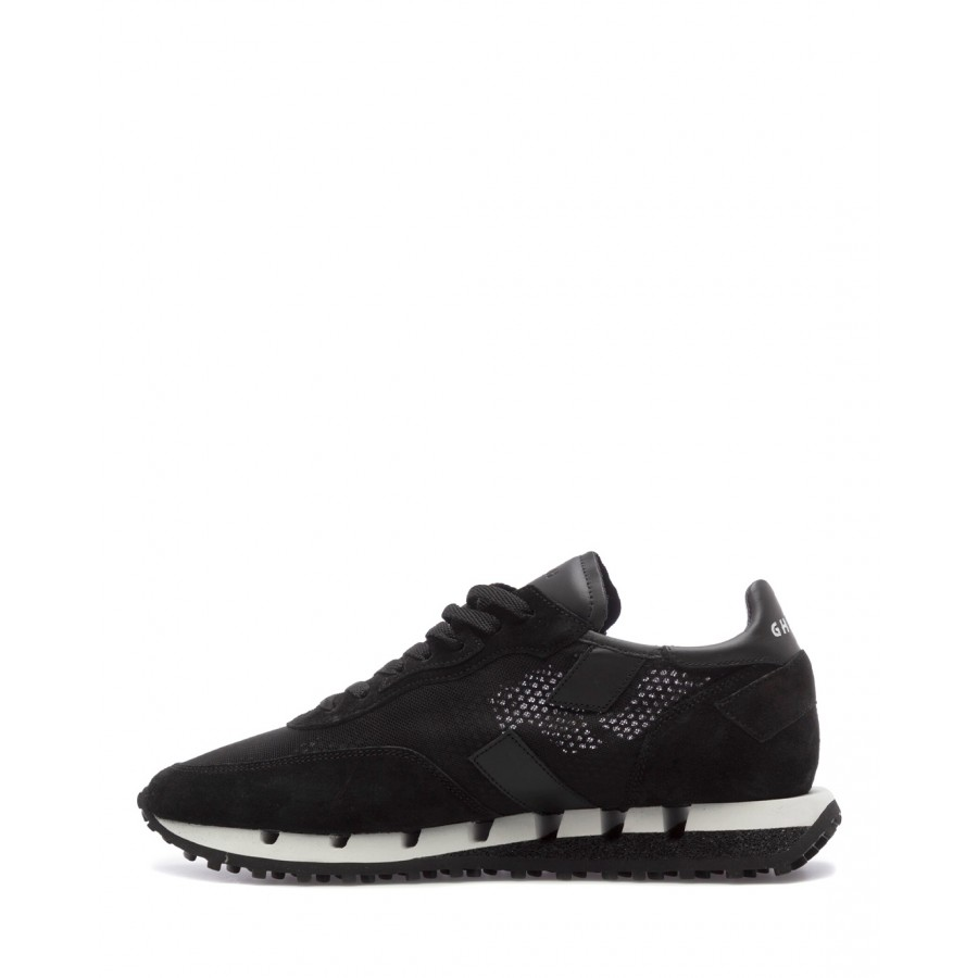 Men's Sneakers GHOUD RTLM WL04 Blk Blk Suede Canvas Black