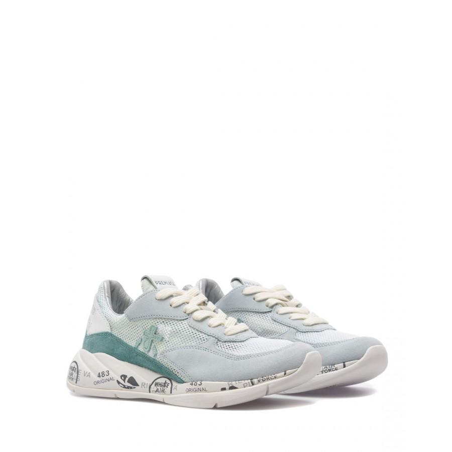 Women's Shoes Sneakers PREMIATA Scarlett 5228 Leather Fabric Light Blu