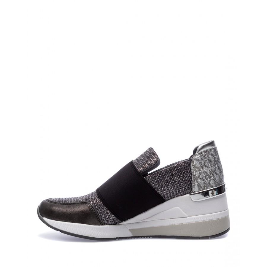 Women's Shoe Sneakers MICHAEL KORS Felix Anthra Silver
