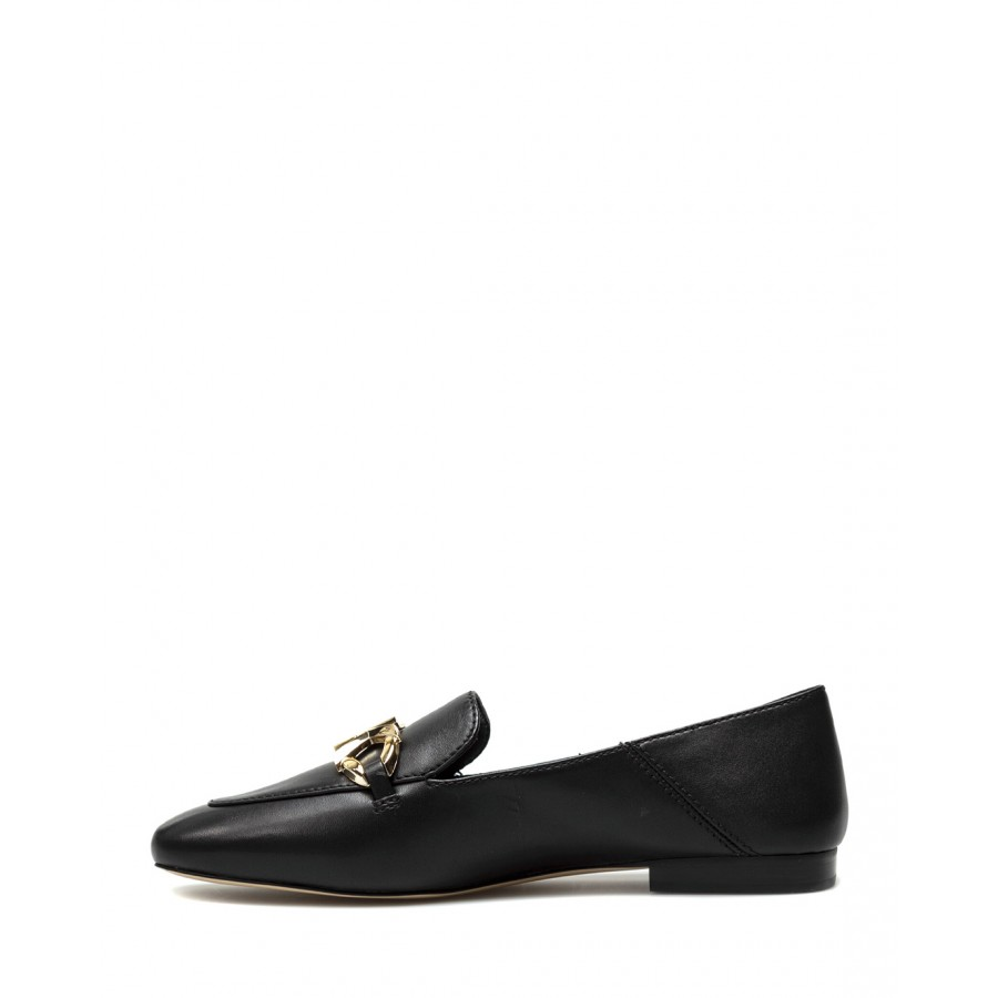 Women's Shoes Moccassins MICHAEL KORS Izzy Black Gold Leather