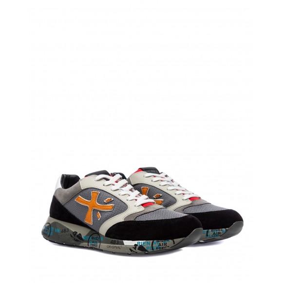 Men\'s Shoes Sneakers PREMIATA ZacZac 5365 Suede Fabric Black Gray