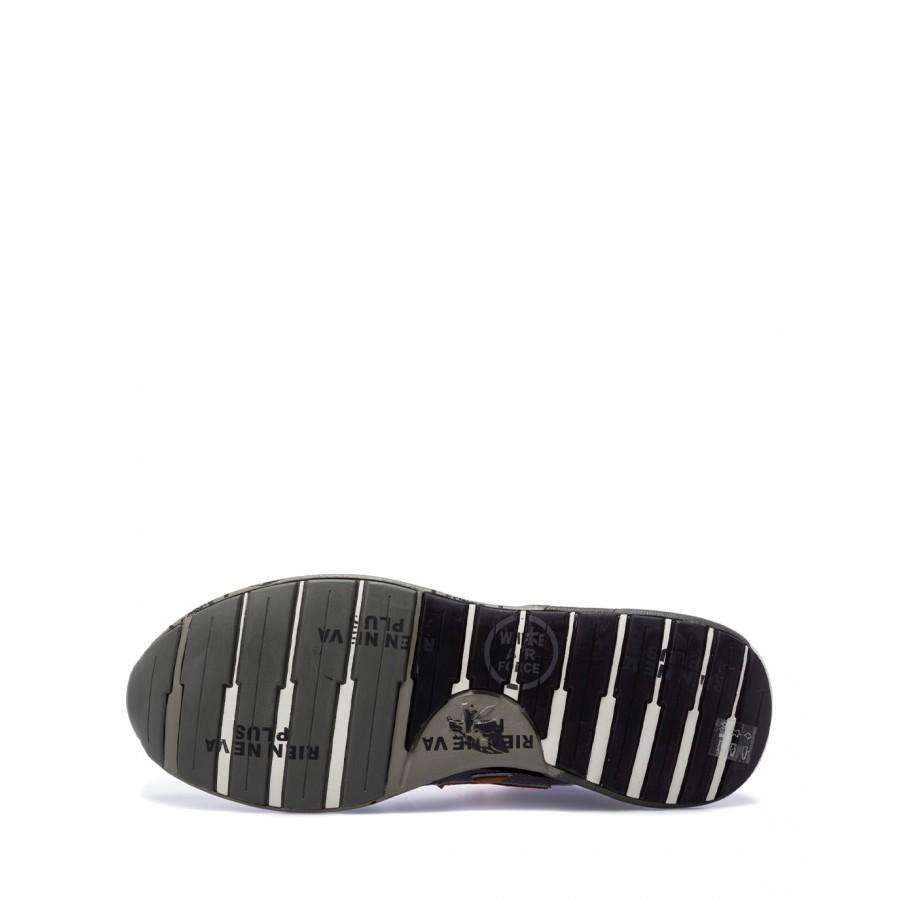 Men's Shoes Sneakers PREMIATA ZacZac 5365 Suede Fabric Black Gray
