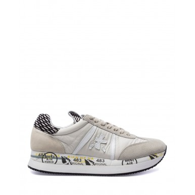 Women's Shoes Sneakers PREMIATA Conny 5331 Suede Fabric White