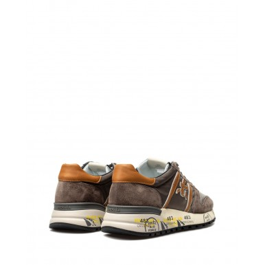 Men's Shoes Sneakers PREMIATA Lander 5360 Leather Nylon Gray