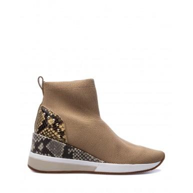 Women's Shoes Sneakers MICHAEL KORS Skyler Camel Slip On Fabric