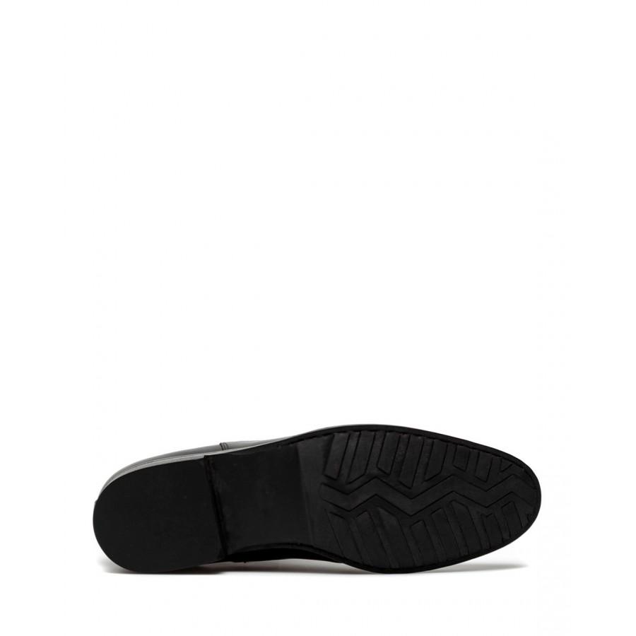 Men's Shoes Ankle Boots MERAVIGLIA Riding Chelsea Boots Beatles Black Leather