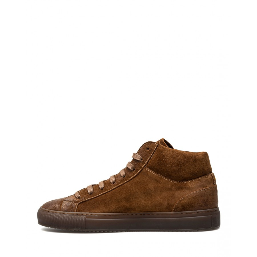Men's Shoes Sneakers DOUCAL'S Oil Siena Suede Brown