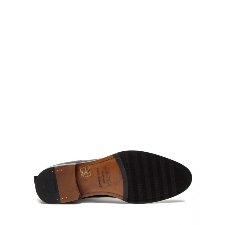 Men's Ankle Boots DOUCAL'S  Chelsea Beatles Decò Nero Leather Black