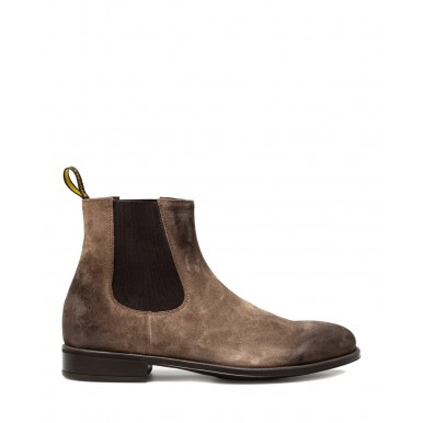 Men's Shoes Ankle Boots DOUCAL'S Chelsea Beatles Point Caffe Suede Brown
