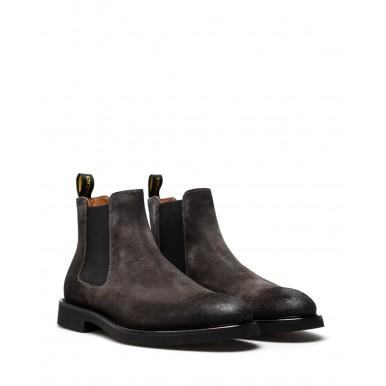 Men's Shoes Ankle Boots DOUCAL'S Chelsea Beatles Oil Lavagna Suede Gray
