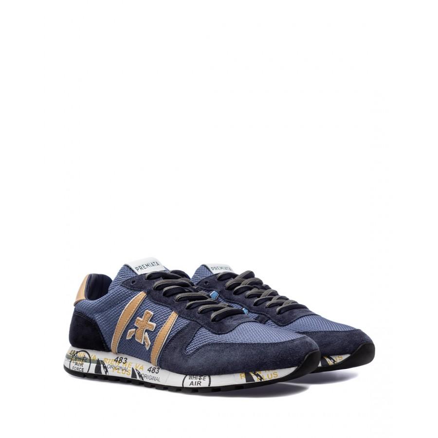 Men's Shoes Sneakers PREMIATA Eric 5374 Nylon Leather Blu