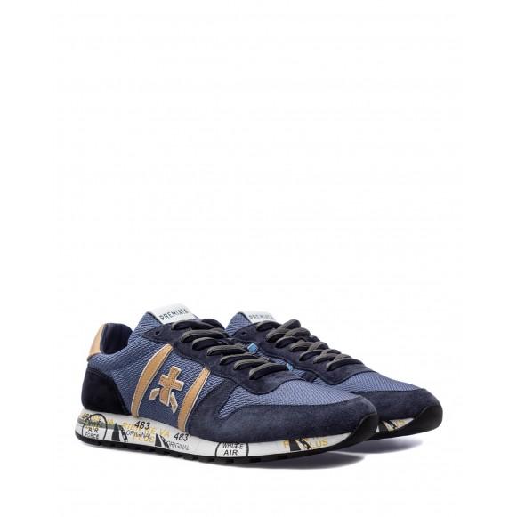 Herren Schuhe Sneakers PREMIATA Eric 5374 Nylon Leder Blau