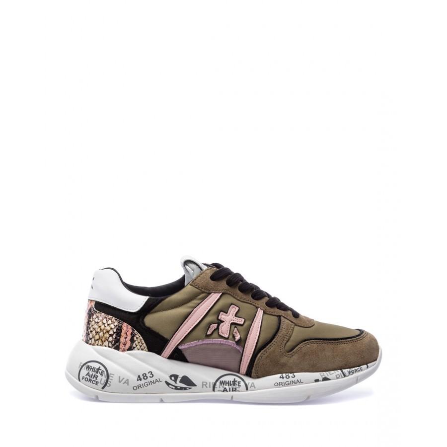 Women's Shoes Sneakers PREMIATA Layla 5414 Nylon Leather Green
