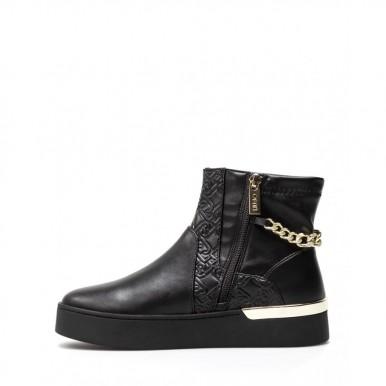 Women's Shoes Mid Sneakers LIU JO Milano Silvia 43 Black Synthetic Stretch