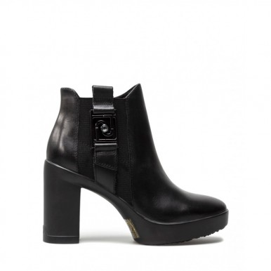 Women's Shoes Ankle Boots LIU JO Milano Now 09 Calf Black Leather