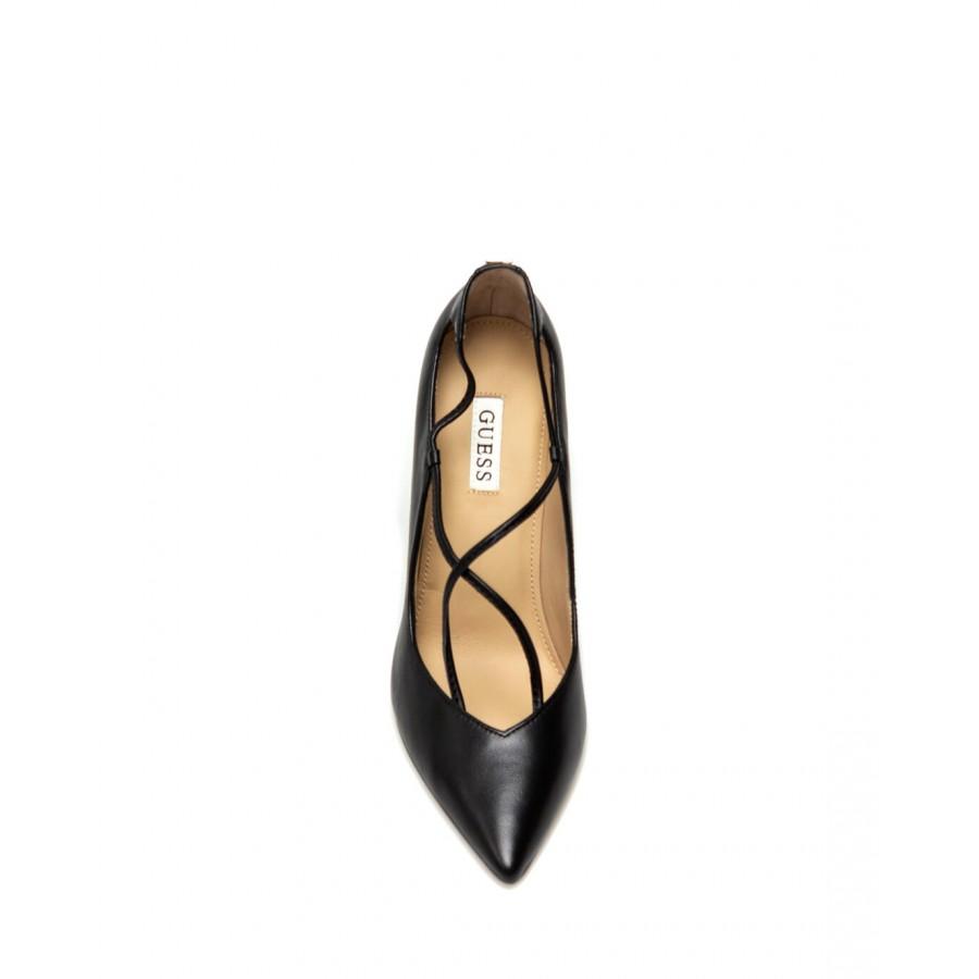 Women's Shoes Heels GUESS FL7SBBLEA08 Leather Black