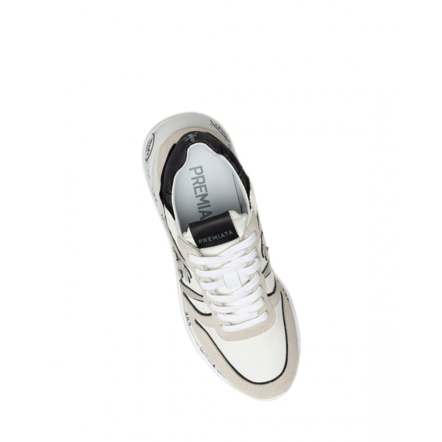 Women's Shoes Sneakers PREMIATA Layla 5417 Nylon Leather White