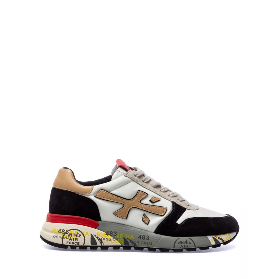 Men's Shoes Sneakers PREMIATA Mick 5337 Nylon Leather Multi White