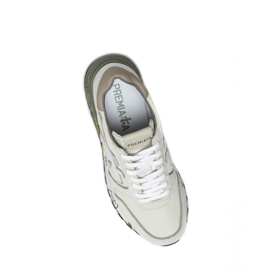 Men's Shoes Sneakers PREMIATA Mick 5341 Nylon Leather White