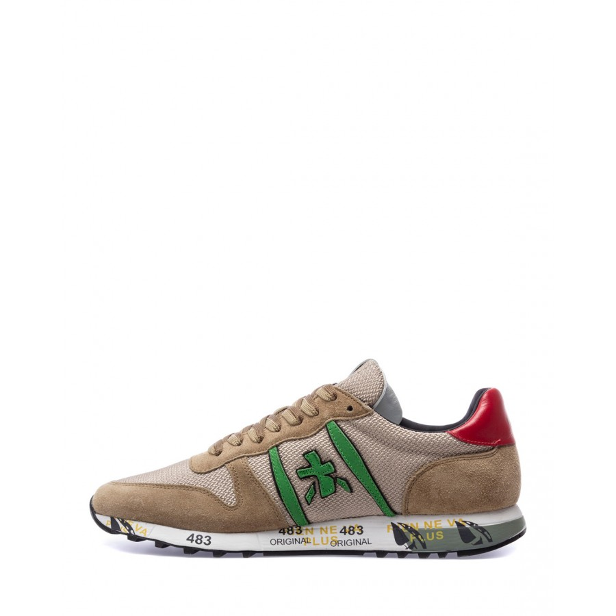 Men's Shoes Sneakers PREMIATA Eric 5376 Nylon Leather Beige